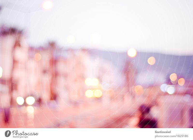 Hafen Meer rot Haus Gebäude rosa Straßenbeleuchtung Bucht Kleinstadt Hafenstadt Türkei Promenade Fischerdorf Lichtfleck