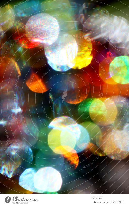 Farben Bling Bling Farbfoto Außenaufnahme Nahaufnahme Detailaufnahme Experiment Menschenleer Licht Reflexion & Spiegelung Lichterscheinung Unschärfe Lifestyle