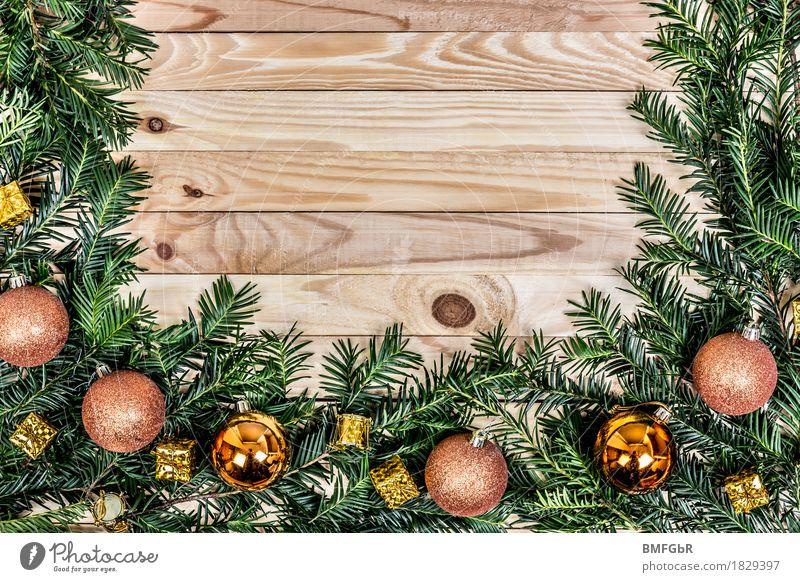 Adventsrahmen Wohnung Feste & Feiern Weihnachten & Advent Silvester u. Neujahr Baum Tannenzweig Dekoration & Verzierung Kitsch Krimskrams Christbaumkugel