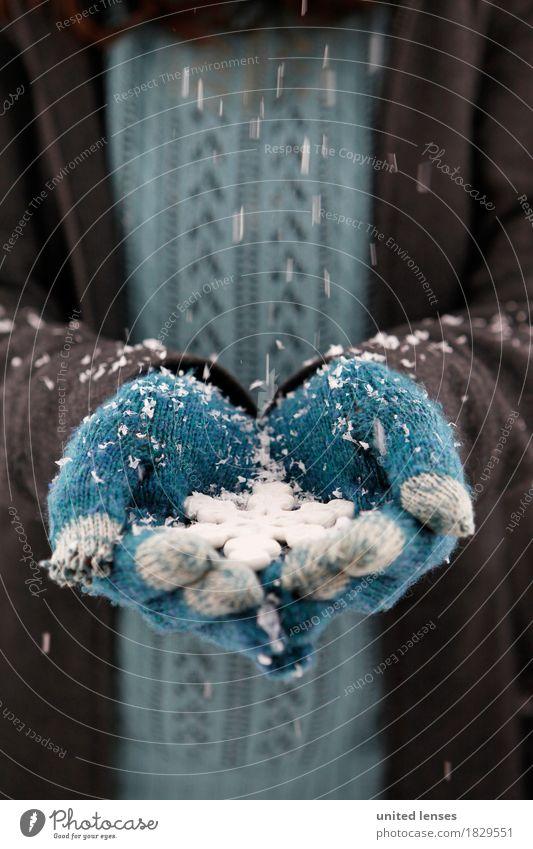 AKCGDR# Schnee draußen II Kunst Kunstwerk ästhetisch Handschuhe blau Winter Wintermantel Winterurlaub Winterstimmung winterfest Wintertag Schneefall