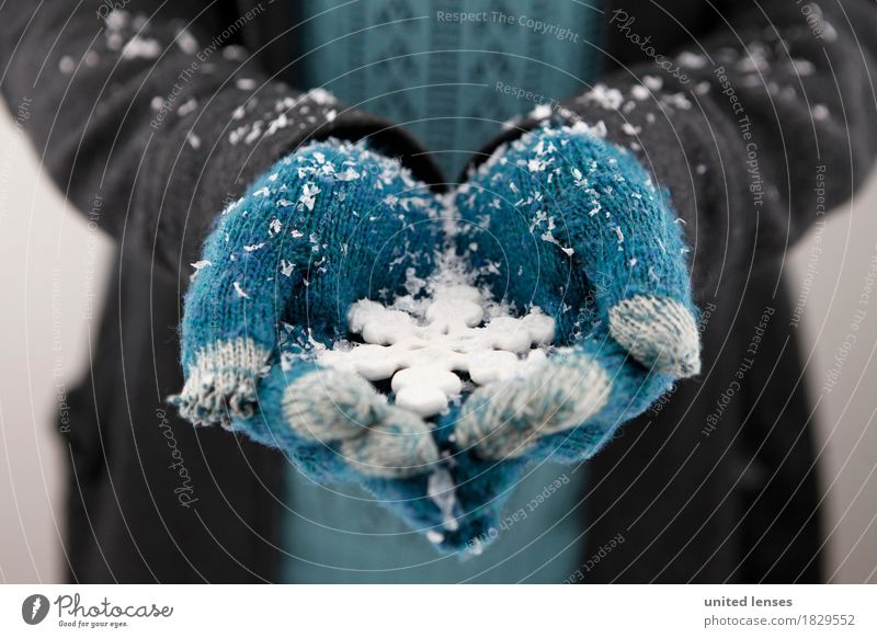 AKCGDR# Schnee draußen I Kunst ästhetisch Handschuhe Schneefall Winter Schneelandschaft Schneewehe blau Winterurlaub Winterstimmung kalt Kälteschutz