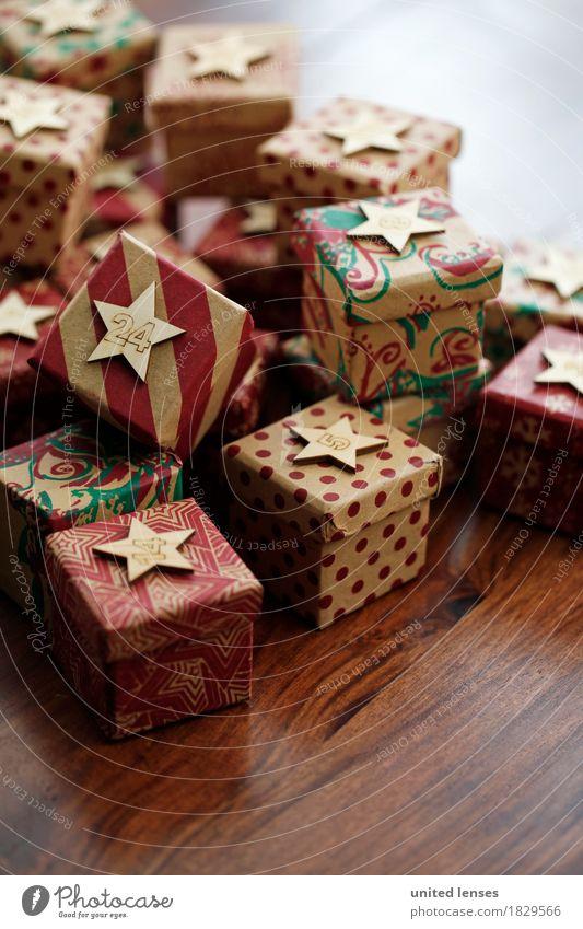 AKCGDR# Geschenke! Kunst Kunstwerk ästhetisch 24 Adventskalender Weihnachten & Advent Dezember Holztisch Vorfreude Farbfoto mehrfarbig Außenaufnahme Nahaufnahme