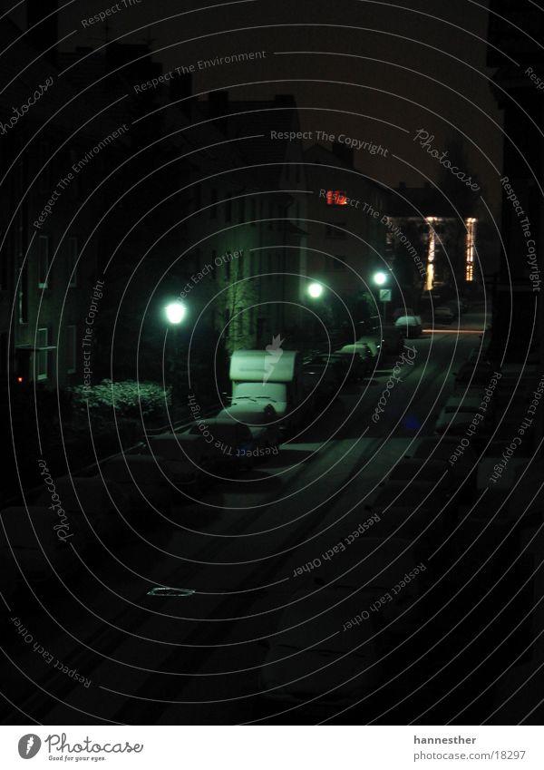 ausm fenster Haus Straße dunkel Schnee Fenster Laterne Nacht Wohnmobil