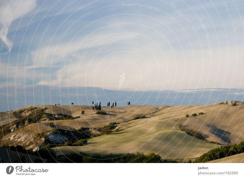 hügel aus samt Himmel Pflanze Ferien & Urlaub & Reisen Wolken Erholung Herbst Landschaft Berge u. Gebirge Sand Wärme Stil Horizont Wellen Feld Erde ästhetisch
