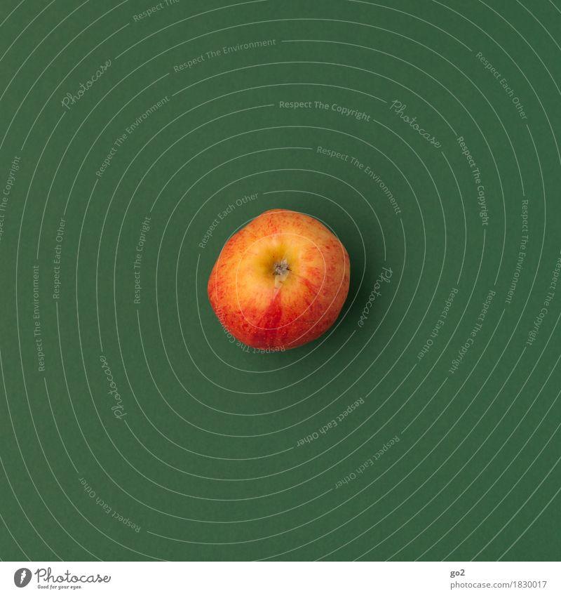 Apfel Lebensmittel Frucht Ernährung Essen Bioprodukte Vegetarische Ernährung Diät Fasten Gesundheit Gesundheitswesen Gesunde Ernährung einfach lecker grün rot
