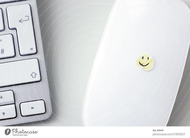 ;-) Freude gelb sprechen Gefühle Schule Stimmung Arbeit & Erwerbstätigkeit Freundschaft Büro Kommunizieren Technik & Technologie Kreativität Erfolg Fröhlichkeit Computer Lächeln
