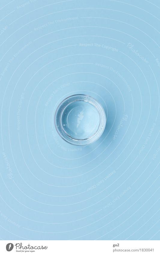 Glas Wasser blau Gesunde Ernährung Leben Gesundheit frisch ästhetisch Trinkwasser einfach rund Getränk trinken Wellness rein Inspiration Leichtigkeit