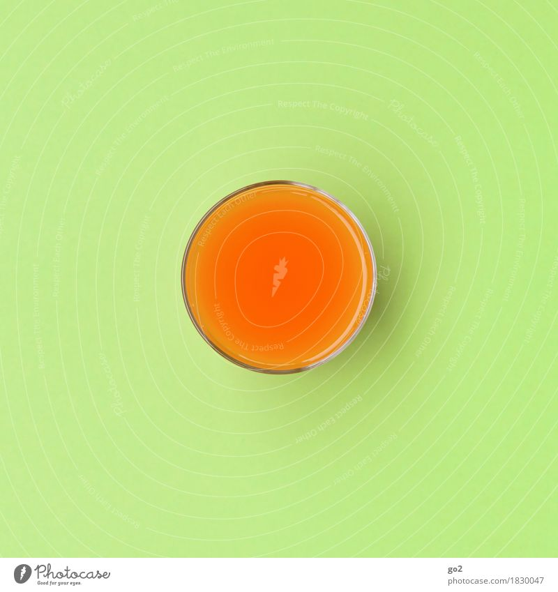 Multivitamin grün Gesunde Ernährung Leben Gesundheit orange Design Zufriedenheit Glas ästhetisch rund Getränk trinken Wellness lecker Diät Fasten