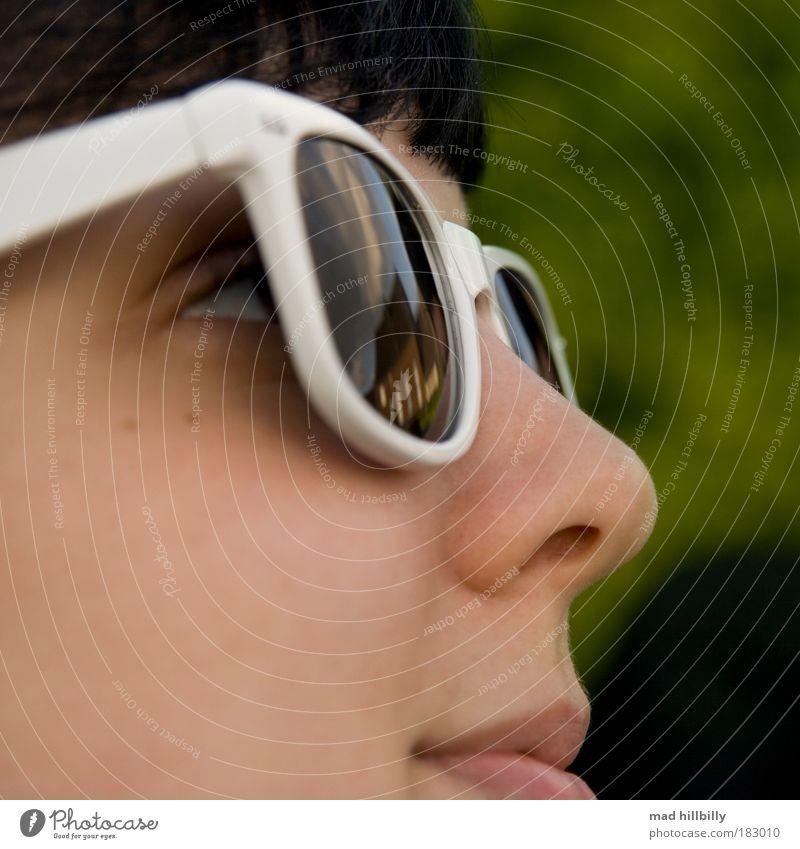 cool girl elegant Stil Freude feminin Frau Erwachsene Jugendliche Haut Kopf Haare & Frisuren Gesicht Auge Nase Mund Lippen 1 Mensch 18-30 Jahre Grünpflanze