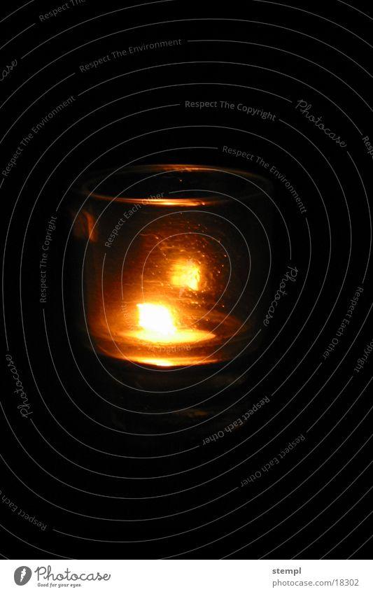 GlasLight Lampe dunkel hell Glas Kerze Dinge