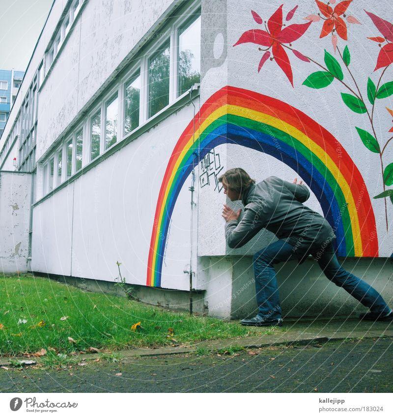 schatzsuche Farbfoto mehrfarbig Außenaufnahme Tag Licht Schatten Reflexion & Spiegelung Mensch maskulin Mann Erwachsene Leben 1 30-45 Jahre Umwelt Natur