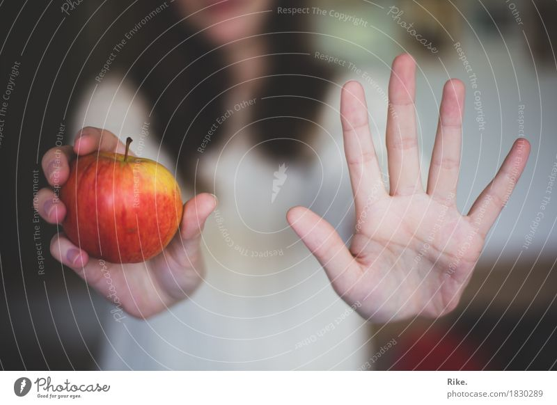 5 Portionen Obst und Gemüse am Tag. Frucht Apfel Ernährung Essen Vegetarische Ernährung Diät Slowfood Gesundheit Gesunde Ernährung Mensch Hand 1 achtsam