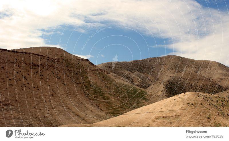 Berg und Tal-Bahn Himmel Ferien & Urlaub & Reisen Sommer Einsamkeit Wolken Ferne Berge u. Gebirge Freiheit außergewöhnlich Felsen trist Gipfel Hügel Suche Wüste