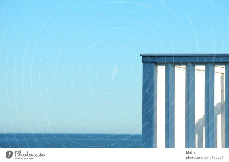 Schöne Aussichten Wasser Meer blau Ferien & Urlaub & Reisen ruhig Ferne Erholung Freiheit Landschaft Küste frei Horizont Ausflug Pause Aussicht Sehnsucht