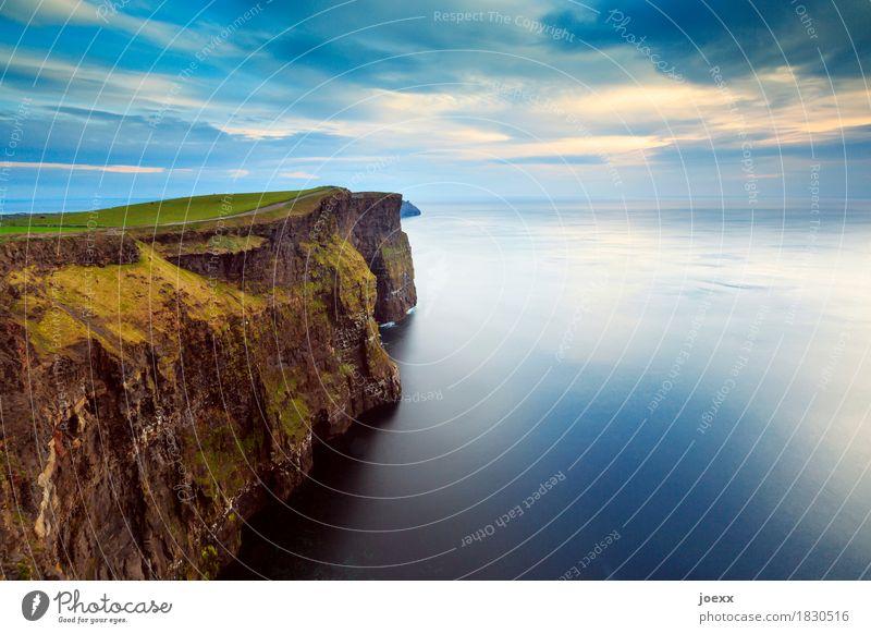 Aillte an Mhothair Himmel Natur Ferien & Urlaub & Reisen blau Wasser Meer Landschaft Umwelt Küste braun Tourismus Wellen Insel hoch Klippe Republik Irland