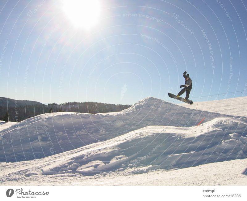 Jump on Feldberg Winter Sport Schnee springen Snowboard Feldberg