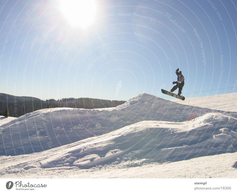 Jump on Feldberg Winter Sport Schnee springen Snowboard