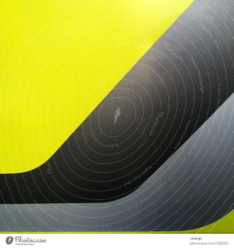 Go with the Flow schwarz gelb Stil Linie Metall Design elegant Erfolg modern Coolness retro Wandel & Veränderung Streifen einzigartig leuchten