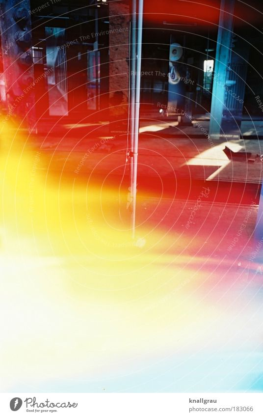 Schwarz Rot Gold schwarz rot gold Heimat Lokschuppen Trödel Industrie Industriefotografie Filmriss Licht Lichtstrahl Sonne Bewusstseinserweiterung Beleuchtung