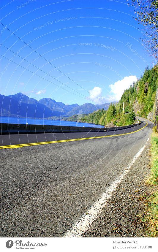 Roadtrip - Canada Style Himmel Natur Wasser Baum Pflanze Sonne Ferien & Urlaub & Reisen Wolken Ferne Straße Freiheit Herbst Berge u. Gebirge Landschaft Umwelt