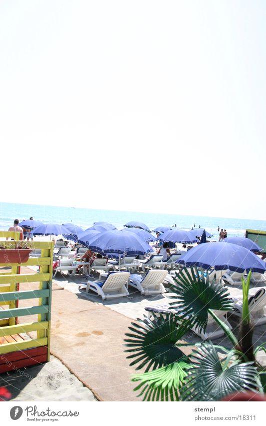 Strande Sonnenschirm Meer Frankreich Ferien & Urlaub & Reisen Fototechnik