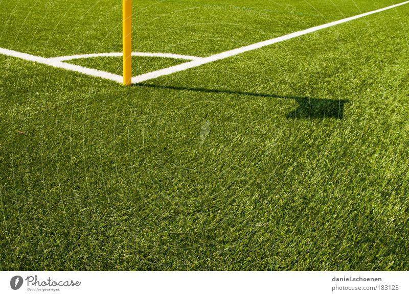 Kunstrasen Textfreiraum unten Textfreiraum Mitte Sport Sportstätten Fußballplatz Linie grün Ordnung