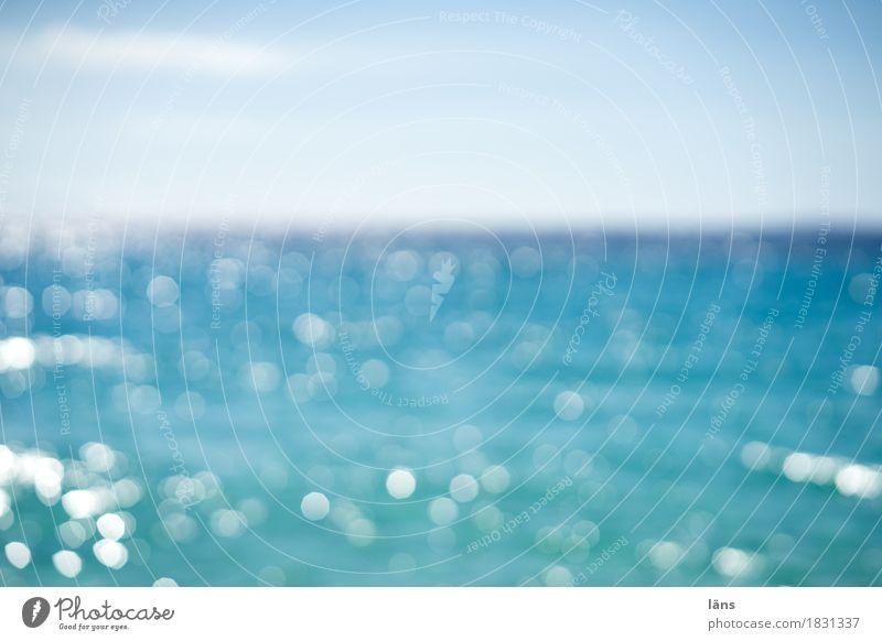 scharf stellen Ferien & Urlaub & Reisen blau Sommer Wasser Sonne Meer Erholung Freude Ferne Strand Küste Schwimmen & Baden Tourismus Horizont Freizeit & Hobby