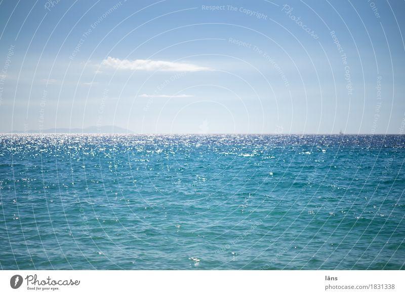 gute Reise Himmel Küste Meer Mittelmeer Insel Naxos Unendlichkeit maritim blau Sehnsucht Fernweh Erwartung Ewigkeit Tourismus Horizont glänzend Segelboot
