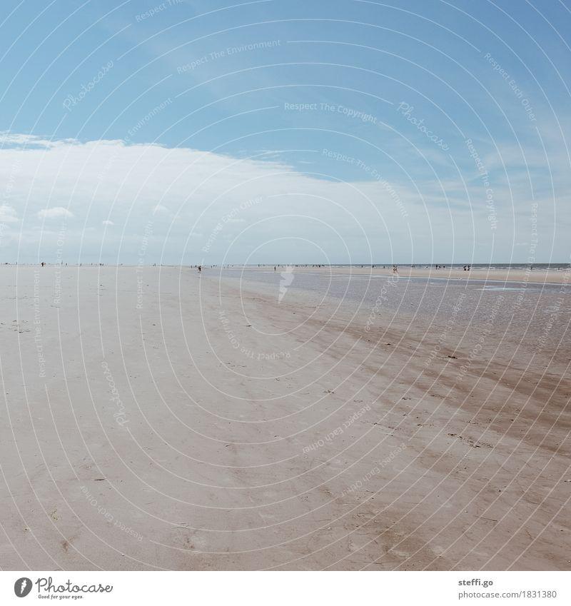 Sommerurlaub Mensch Natur Ferien & Urlaub & Reisen Sonne Meer Landschaft Erholung Ferne Strand Umwelt Frühling Tourismus Horizont Freizeit & Hobby Zufriedenheit