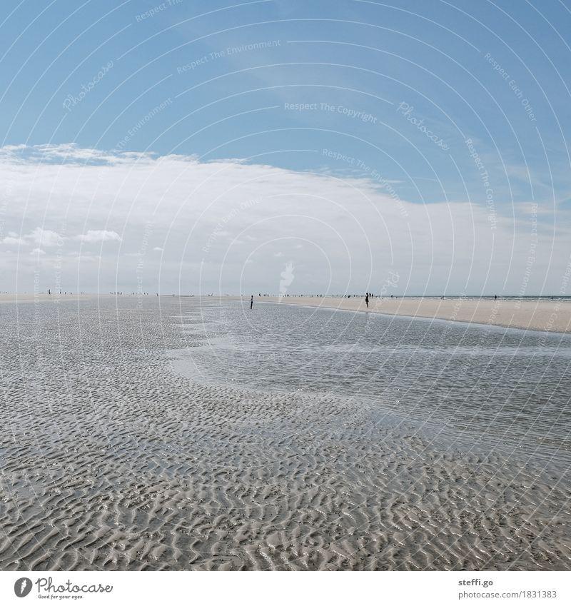 Tag am Meer II Mensch Natur Ferien & Urlaub & Reisen Sommer Sonne Landschaft Erholung Ferne Strand Umwelt Spielen außergewöhnlich Freiheit Tourismus Horizont
