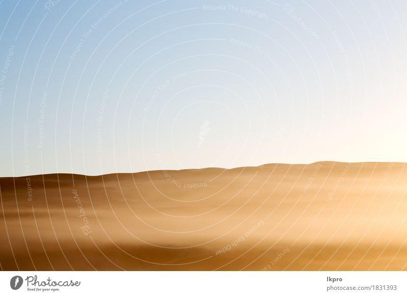 Sanddüne in Oman alten Wüste Rub al khali schön Ferien & Urlaub & Reisen Abenteuer Safari Sommer Haus Natur Landschaft Pflanze Himmel Horizont Wind Nebel Park