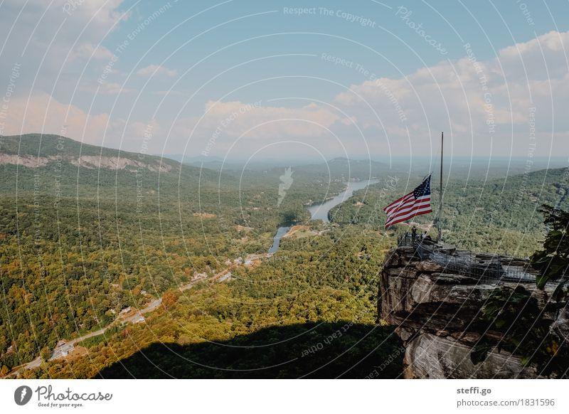 God bless America Mensch Natur Ferien & Urlaub & Reisen Landschaft Ferne Wald Berge u. Gebirge außergewöhnlich Freiheit Felsen Tourismus träumen Ausflug wandern