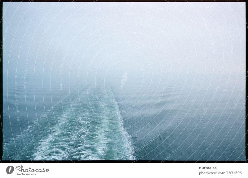 ich ma los Natur Ferien & Urlaub & Reisen Meer Landschaft Einsamkeit Winter dunkel Umwelt kalt Schwimmen & Baden Horizont Nebel Wellen ästhetisch Klima
