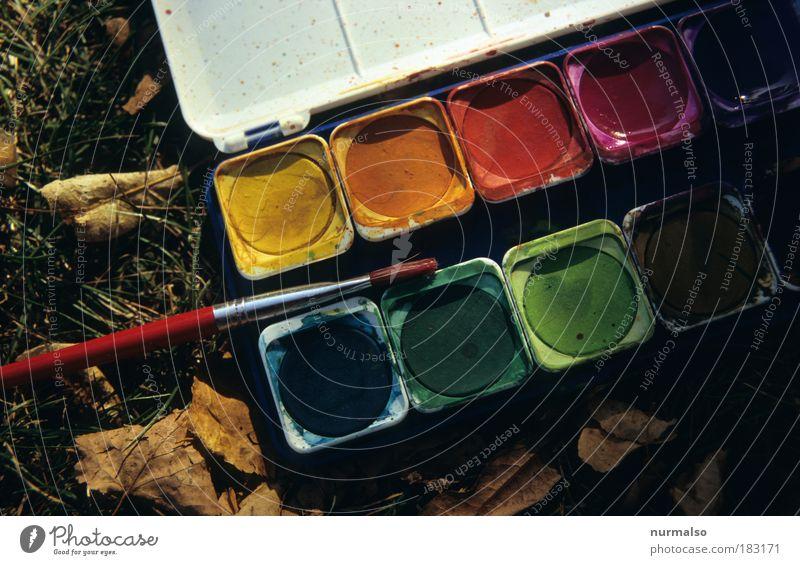 Neues Logo Malen . . . Farbfoto Detailaufnahme Lifestyle Freizeit & Hobby Basteln malen Kunst Maler Gemälde Umwelt Natur Herbst Gras Blatt Garten Park