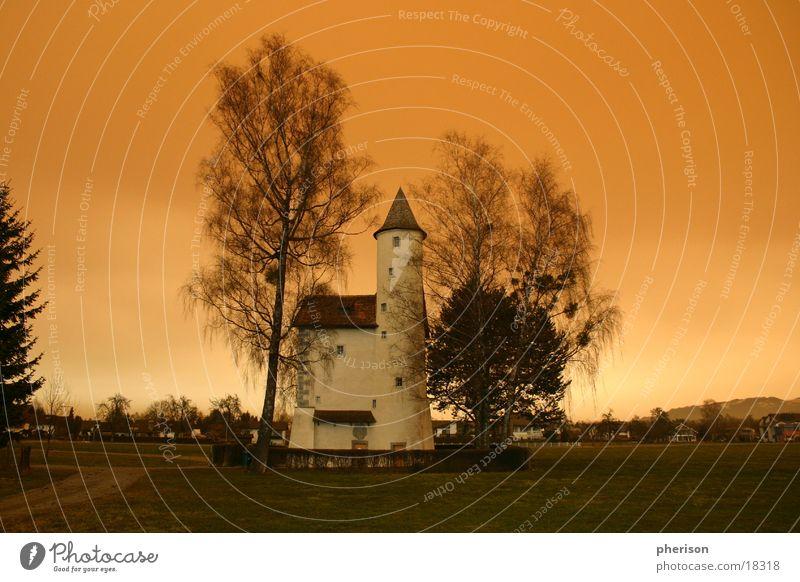 burgl Gebäude Architektur Abend Sonne Ritter Landschaft Burg oder Schloss