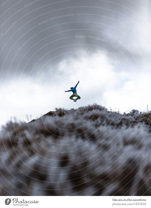 Wochenende!!!! Mensch Ferien & Urlaub & Reisen Mann Landschaft Wolken Freude Ferne Berge u. Gebirge Erwachsene Leben Sport feminin Glück Freiheit Felsen