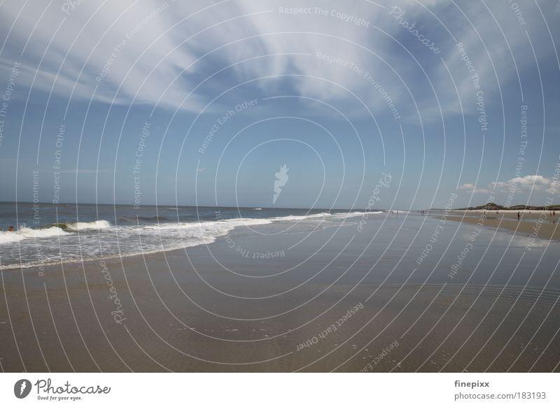 Endlos... Himmel Natur Wasser Ferien & Urlaub & Reisen Sonne Sommer Meer Strand Wolken ruhig Ferne Erholung Freiheit Küste Wellen Tourismus