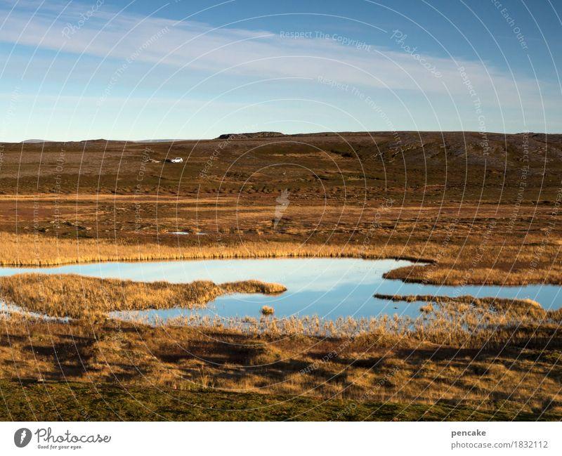 wir sind nicht allein Himmel Natur schön Wasser weiß Landschaft Leben Herbst träumen PKW Erde Schönes Wetter Urelemente nordisch Norwegen Herbstfärbung