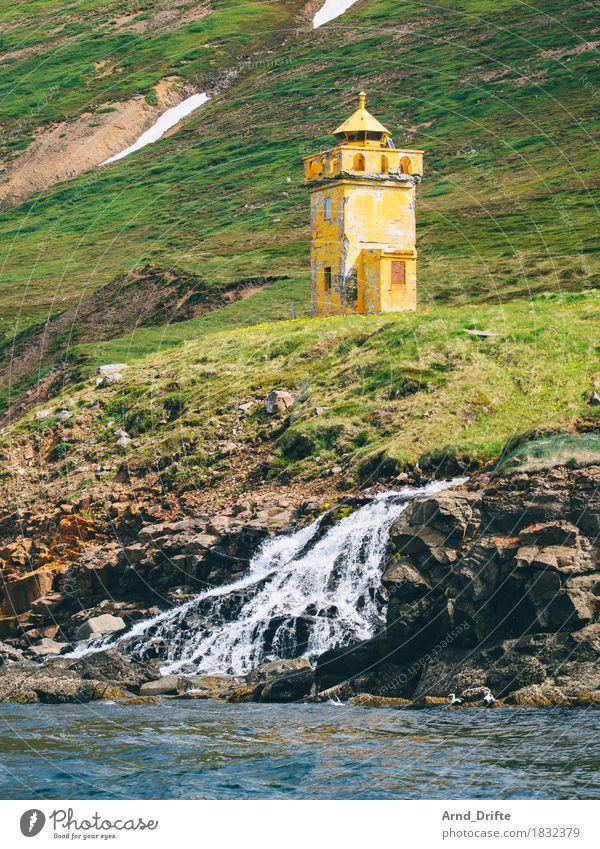 Island - Siglufjörður Ferien & Urlaub & Reisen Tourismus Ausflug Abenteuer Sightseeing Expedition Meer Insel Wellen Natur Landschaft Erde Wasser Schönes Wetter