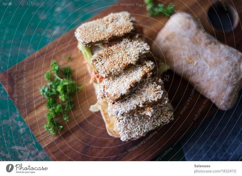 Guten Appetit Gesundheit Lebensmittel Ernährung frisch Kräuter & Gewürze lecker Bioprodukte Backwaren Vegetarische Ernährung Teigwaren Brötchen Hamburger Petersilie Sesam Tofu