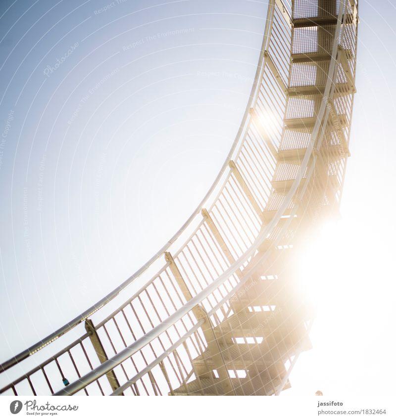Looping Kunst Kunstwerk Skulptur Sehenswürdigkeit Wahrzeichen elegant glänzend hell Achterbahn Angerpark Deutschland Landmarke Ruhrgebiet Stahlkonstruktion
