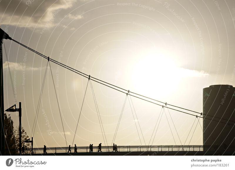 Die Brücke Gedeckte Farben Außenaufnahme Textfreiraum rechts Textfreiraum oben Morgendämmerung Abend Dämmerung Kontrast Silhouette Sonnenaufgang Sonnenuntergang