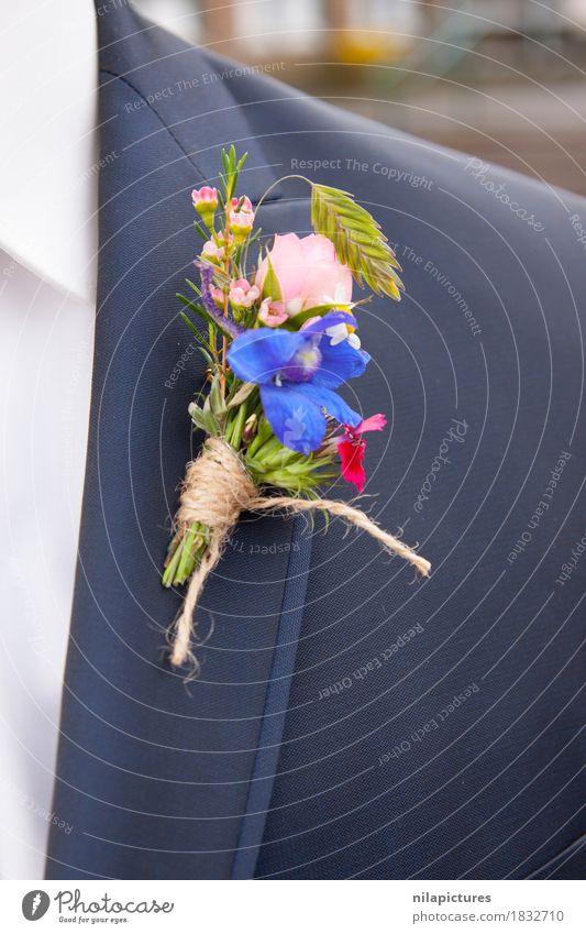 """Ansteckblume Braeutigam Natur Liebe blue Anzug """"Blume,"""" Strauß Bräutigam Ehe Heiraten Hochzeit Hochzeitstag (Jahrestag) Feste & Feiern Blüte Jacke Pflanze"""