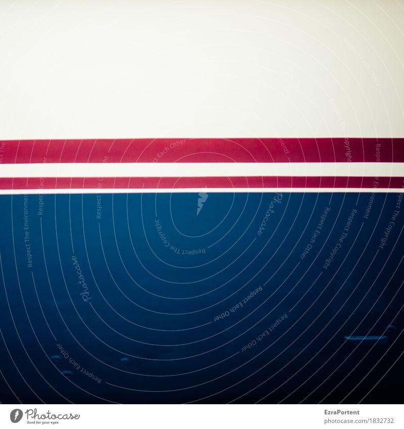 auch ein schönes blau elegant Stil Design Dekoration & Verzierung Zeichen Schilder & Markierungen Linie Streifen ästhetisch rot weiß Farbe Werbung dick dünn