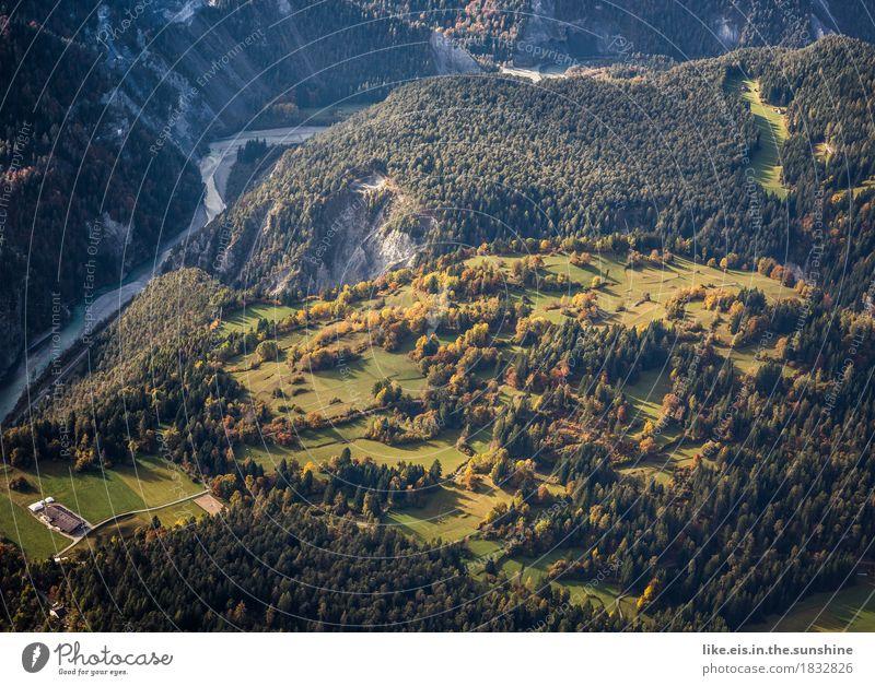 Indian summer Natur Ferien & Urlaub & Reisen Pflanze grün Baum Landschaft ruhig Ferne Wald Berge u. Gebirge Umwelt Herbst natürlich Felsen Feld wandern