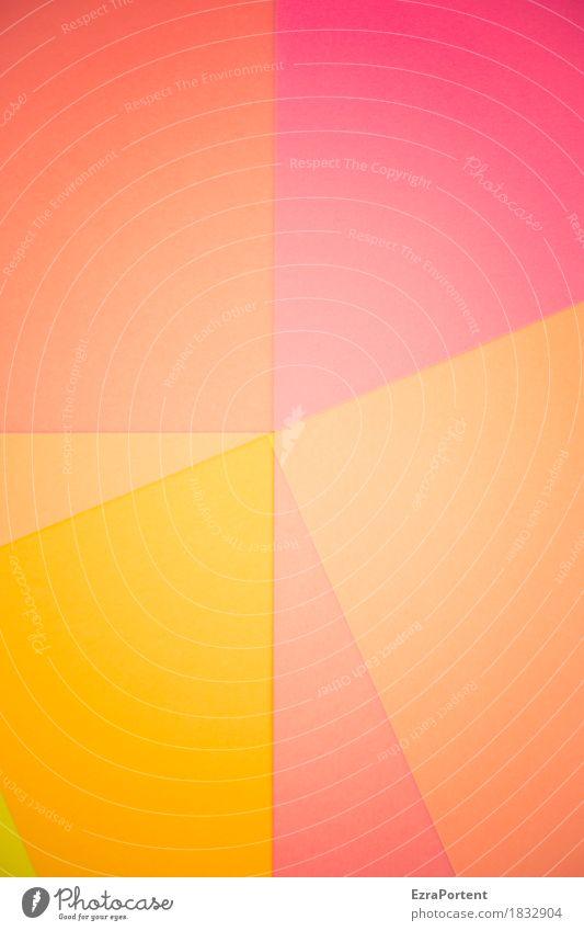 I |/\|\/- F elegant Stil Design Dekoration & Verzierung Kunst Papier Zeichen Linie ästhetisch Fröhlichkeit hell schön mehrfarbig gelb orange rosa rot Farbe