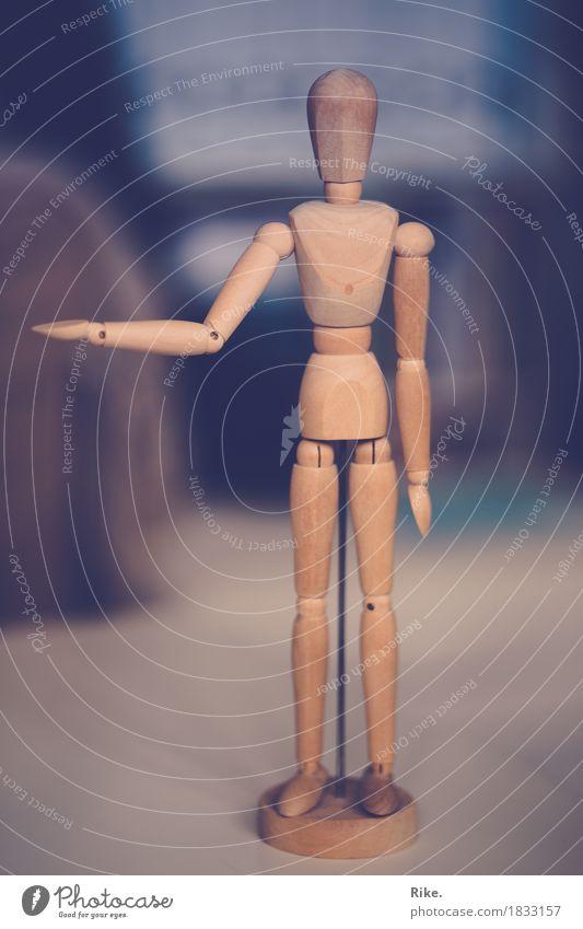 Darf ich bitten? Gesundheit sportlich Mensch Körper 1 Kunst Künstler Skulptur Tanzen selbstbewußt Einsamkeit Bewegung Kontrolle Kreativität Kultur Holz Figur