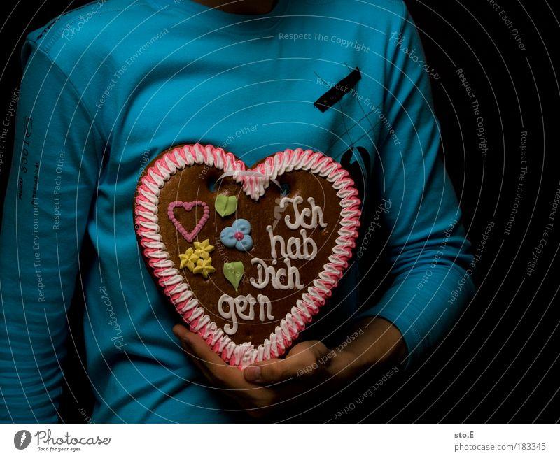 Ich Dich auch Mensch Mann Hand Winter Erwachsene Liebe Geschenk Glück Freundschaft Zusammensein Arme Herz maskulin Ernährung Schriftzeichen süß