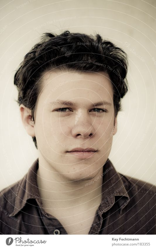 steppenwolf Mensch Jugendliche Porträt Gesicht Erwachsene Mann braun natürlich maskulin Tiefenschärfe 18-30 Jahre Junger Mann Blick ernst seriös schwarzhaarig