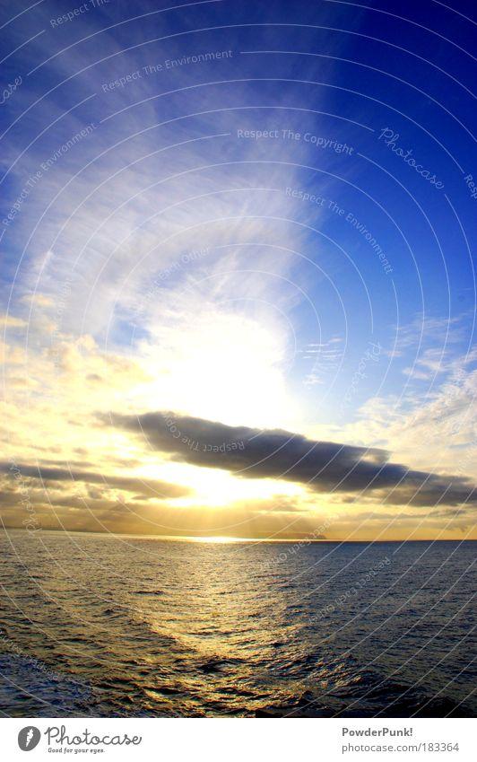himmel Himmel Natur Ferien & Urlaub & Reisen Wasser Sonne Meer Wolken Landschaft Ferne Umwelt Herbst Freiheit Küste Wellen Kraft Zufriedenheit